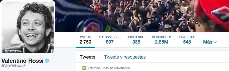 Twitter Valentino Rossi